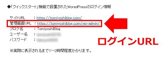 WordPressログイン情報