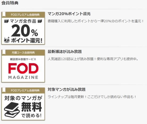 FOD20%ポイント0還元